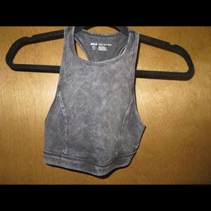 Distressed Wash Sports Bra